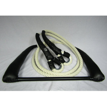Fixed Trapeze / 3 m ropes Ecru / Black Leather Protectors