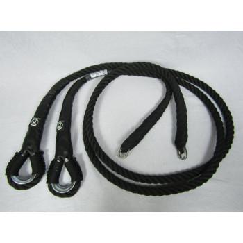 Cordes pour trapèze / Noir / 2.5 mètres (Paire)