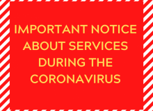 COVID-19 - IMPORTANT NOTICE